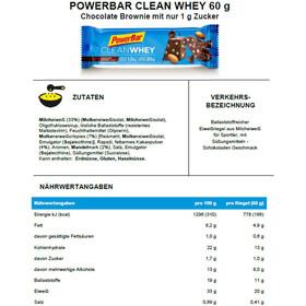 PowerBar Clean Whey Riegel Box 18x60g Chocolate Brownie